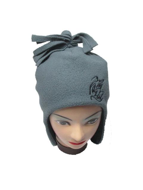 obvod 54-Chlapecká zimní flaušová čepice - šedá barva