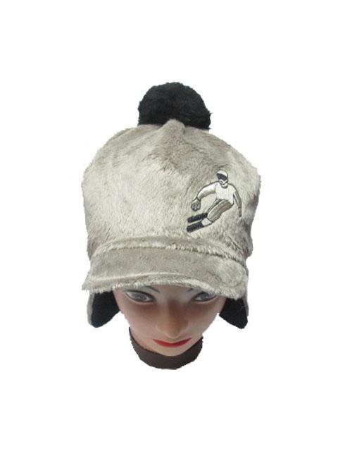 obvod 54-Chlapecká zimní flaušová čepice - hnědá barva