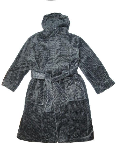 128-146-Chlapecký župan WOLF (proužek) - černá barva
