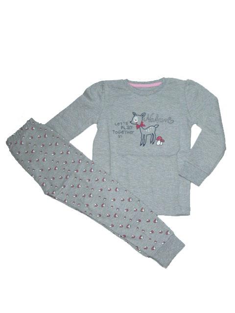 110-128-Dívčí pyžamo WOLF - šedá barva