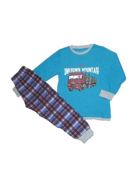 104,110,116-Chlapecké pyžamo WOLF - petrolejová barva