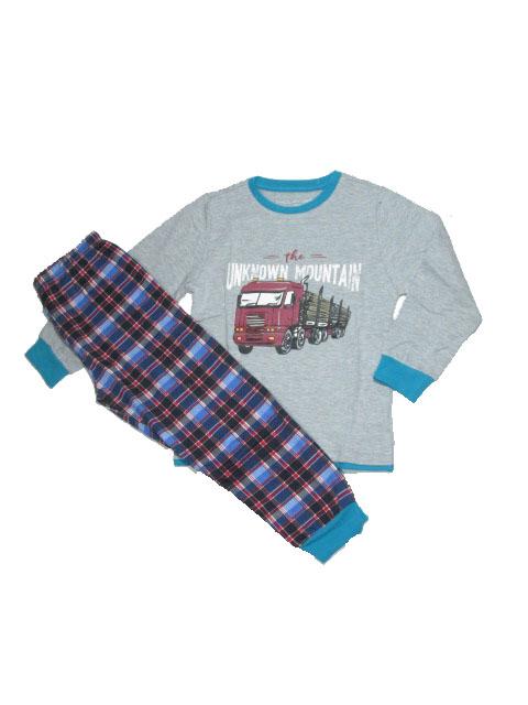 104,110-Chlapecké pyžamo WOLF - šedá barva