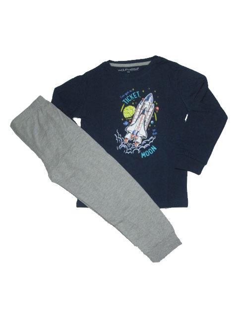 110,116,134,140-Chlapecké pyžamo WOLF - tm.modrá barva