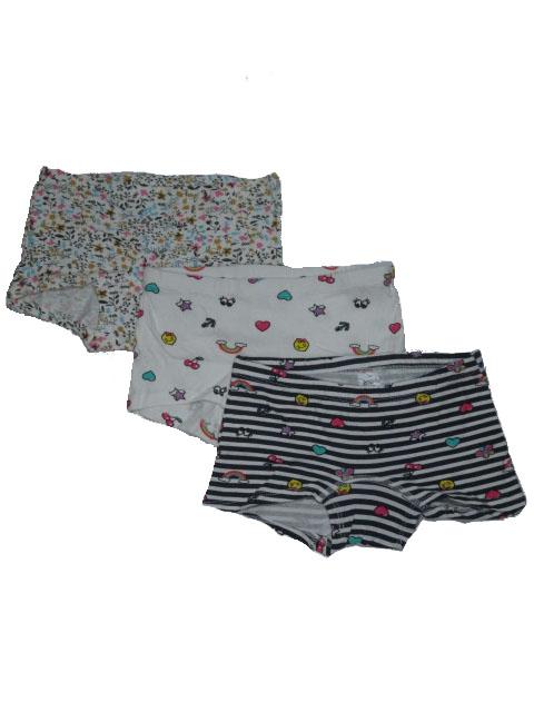 122-164-Dívčí spodní kalhoty WOLF - trojpack