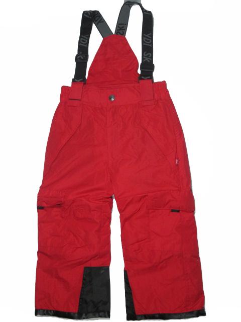 vel.104-128-Lyžařské zateplené kalhoty - YDI - červená barva