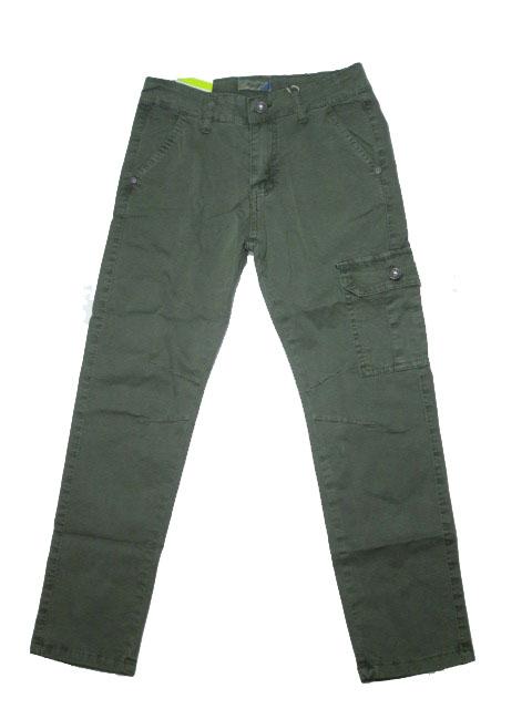 134-Chlapecké letní plátěné kalhoty KUGo - khaki barva