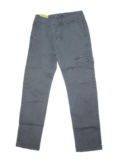 146-164-Chlapecké letní plátěné kalhoty KUGo - šedá barva