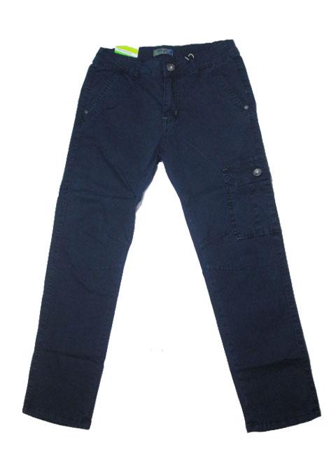 164-Chlapecké letní plátěné kalhoty KUGo - tm.modrá barva