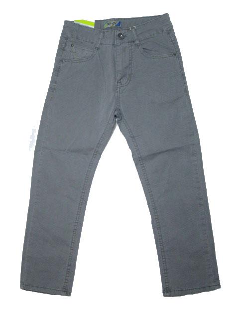 116-146-Chlapecké letní plátěné kalhoty KUGo - šedá barva