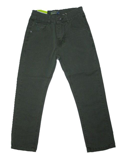 116-146-Chlapecké letní plátěné kalhoty KUGo - khaki barva