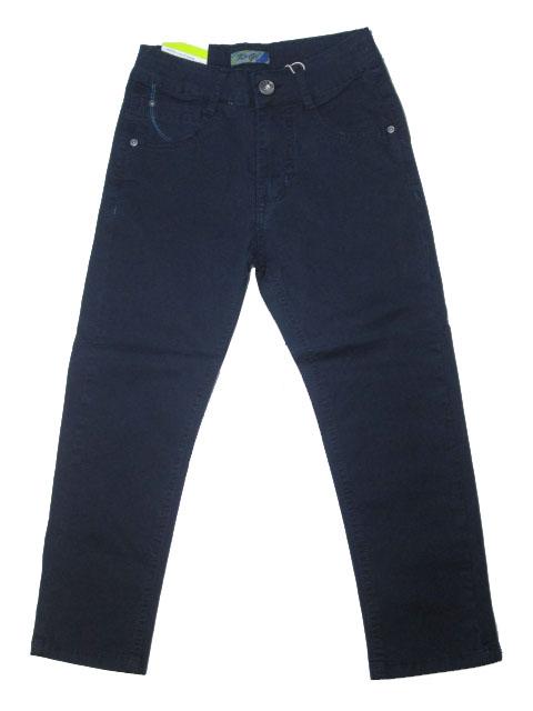 122-146-Chlapecké letní plátěné kalhoty KUGo - tm.modrá barva