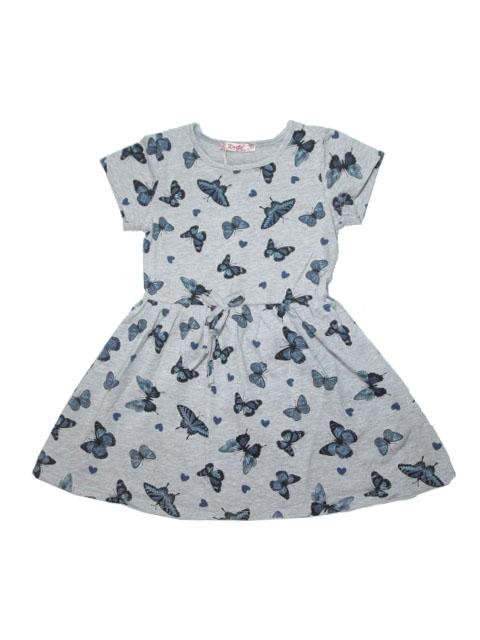 110-140-Dívčí šaty KUGO - šedá barva
