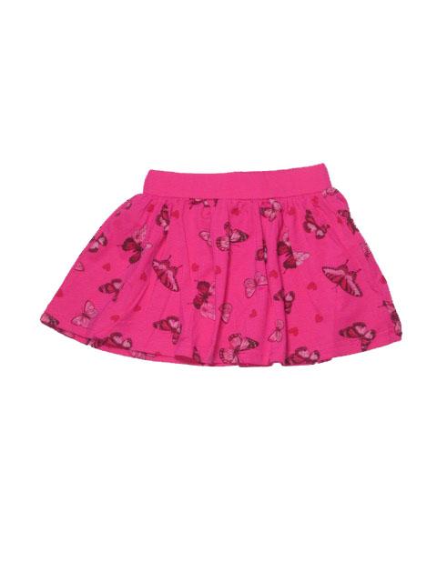 110-122-Dívčí sukně KUGO - barva tm.růžová