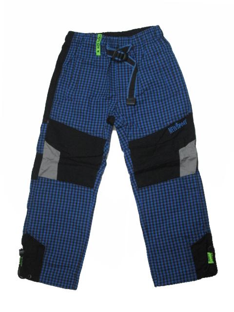 98,104-Chlapecké outdoorové plátěné kalhoty Grace - barva modrá