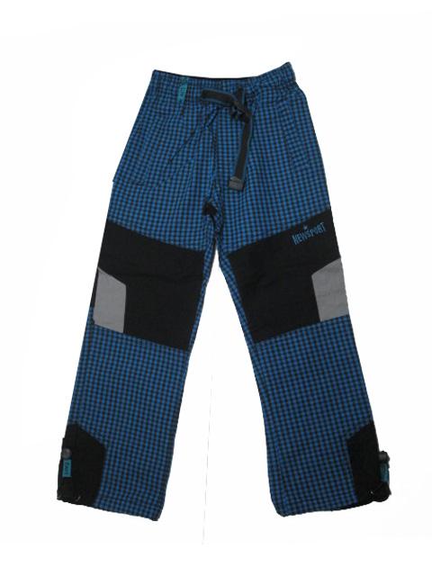 98-116-Chlapecké outdoorové plátěné kalhoty Grace - barva tyrkysová