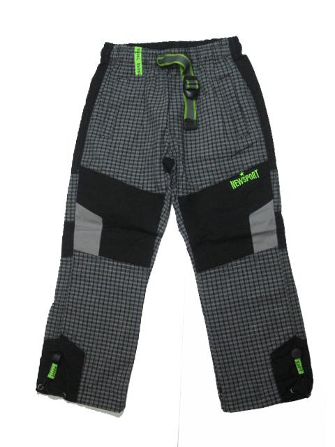 98,110-Chlapecké outdoorové plátěné kalhoty Grace - barva černo-šedá