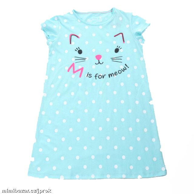 vel.104,110-Dívčí noční košile - krátký rukáv - WOLF -sv.modrá barva