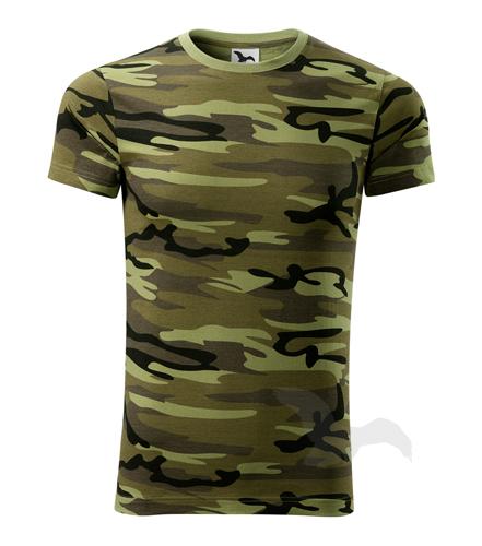 XS,M,L,XL,2XL,3XL-Maskáčové tričko Camouflage - Adler - UNISEX - barva zelená
