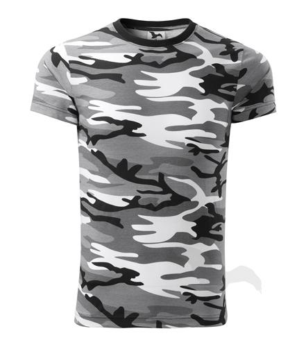 M,L,XL,2XL,3XL-Maskáčové tričko Camouflage - Adler - UNISEX - barva šedá