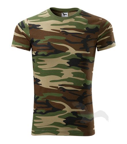 S,M,L,XL,3XL-Maskáčové tričko Camouflage - Adler - UNISEX - barva hnědá