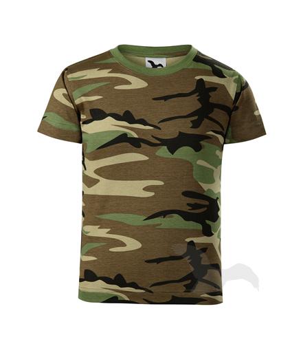věk 8,10,12-Dětské maskáčové tričko - Adler - barva hnědá