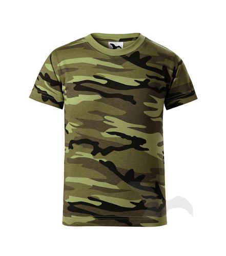 věk 8,10,12-Dětské maskáčové tričko - Adler - barva khaki