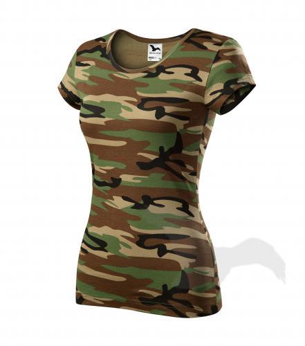 vel.2XL-Dámské maskáčové tričko - Adler - barva hnědá