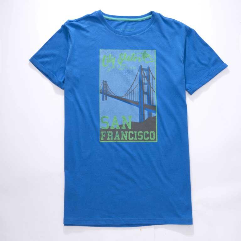 vel.134-164-Chlapecké tričko WOLF - krátký rukáv - modrá barva