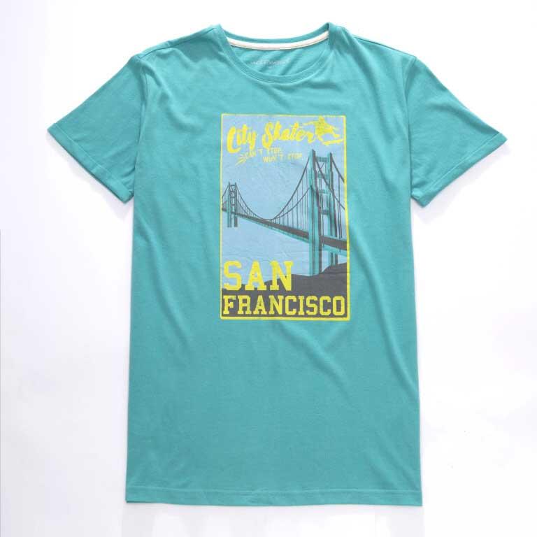 vel.134-164-Chlapecké tričko WOLF - krátký rukáv - zelená barva