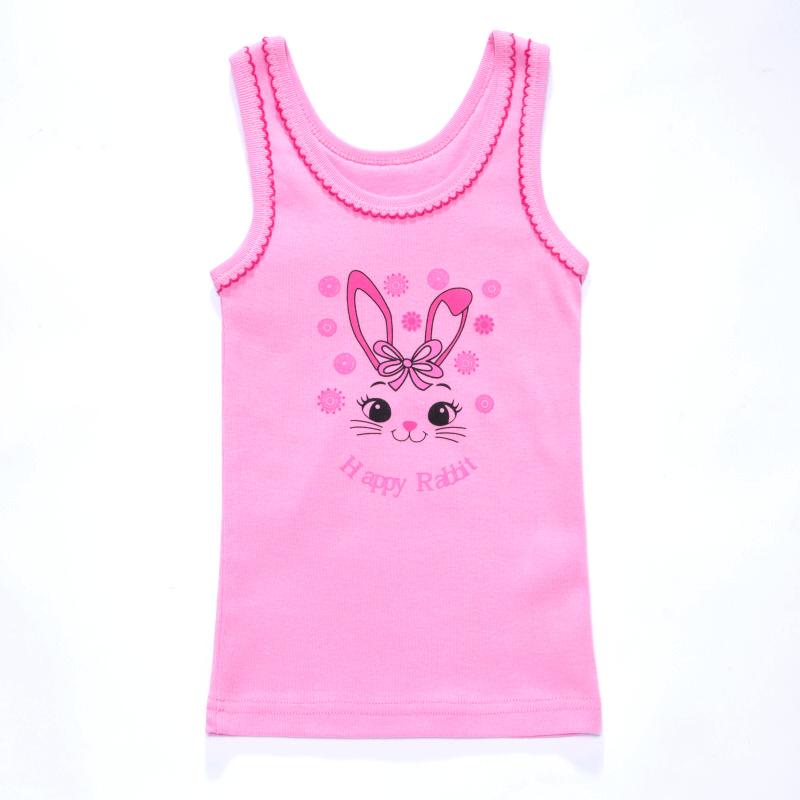 vel.98-140-Dívčí košilka - tílko WOLF - růžová barva