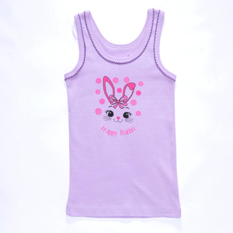 vel.98-140-Dívčí košilka - tílko WOLF - fialová barva