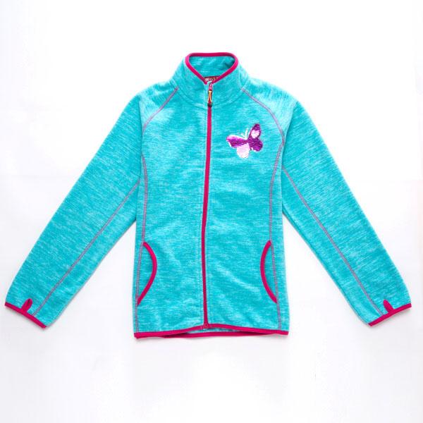 128,152-Dívčí fleesová mikina WOLF - barva modrá