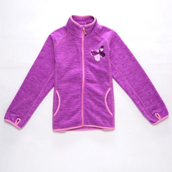 128-158-Dívčí fleesová mikina WOLF - barva fialová