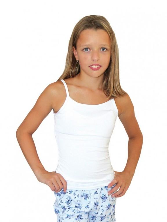 XS,XXS-Dívčí spodní tílko - bílá barva EVONA
