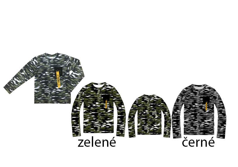 146-164-Chlapecké maskáčové tričko SEZON