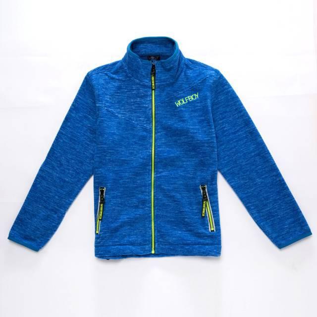 128-158-Chlapecká fleesová mikina WOLF - barva modrá