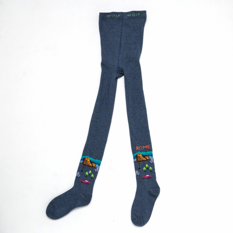 122-128-Chlapecké punčocháče WOLF - modrá barva