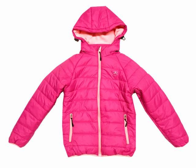 134-164-Dívčí zimní bunda KUGO - růžová barva
