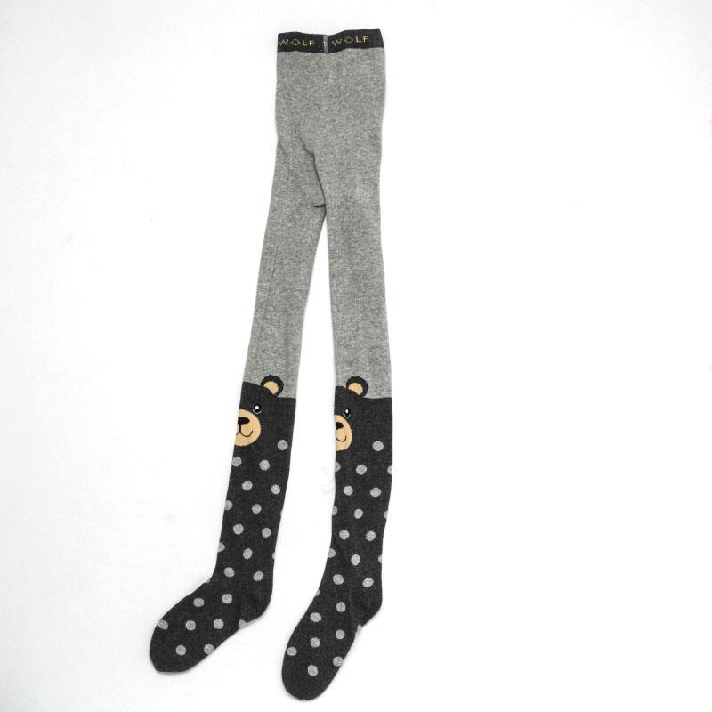 110-116-Dívčí punčocháče WOLF - šedá barva