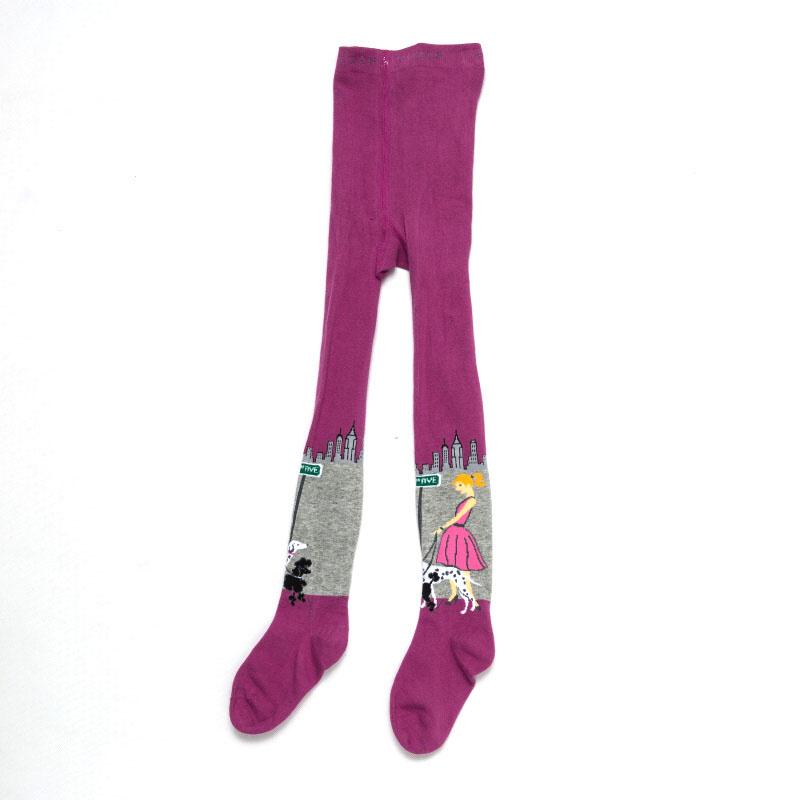 98-116-Dívčí punčocháče WOLF - fuchsiová barva