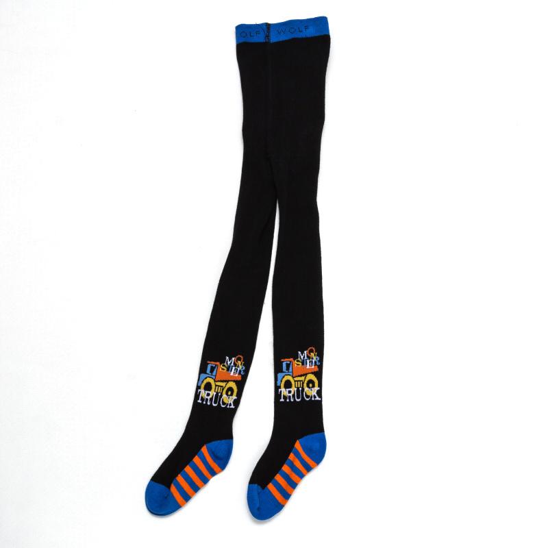 110-128-Chlapecké punčocháče WOLF - černá barva