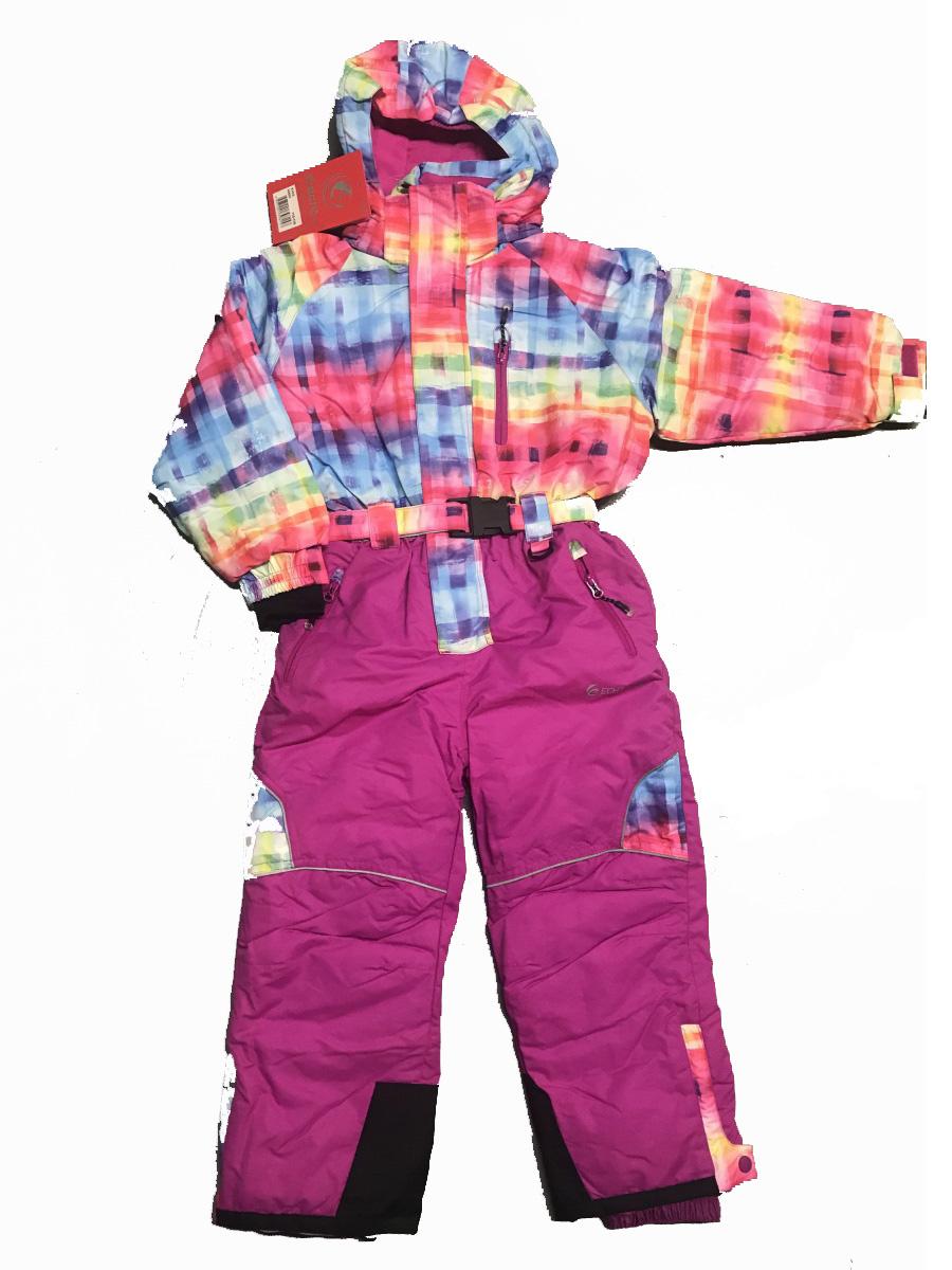 98-104-Dívčí zimní kombinéza Echt - barva růžová