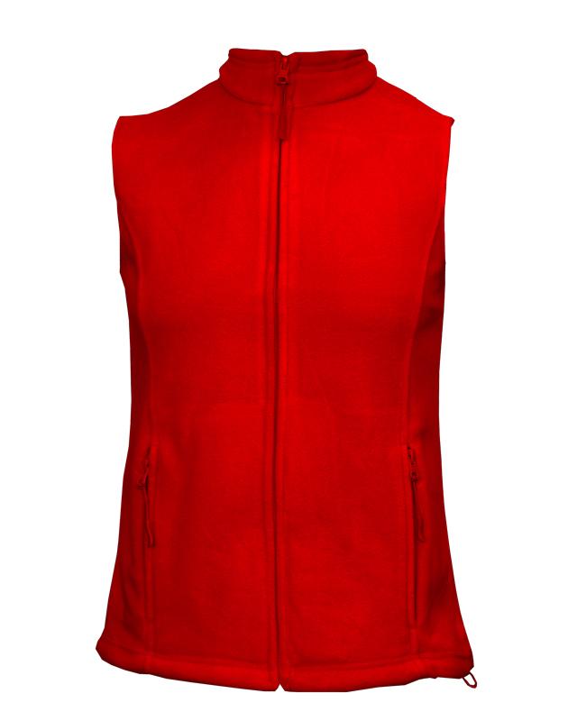 XL-Dámská fleesová vesta Lambeste - červená barva