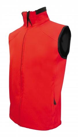 L-Softshellová vesta Lambeste -UNISEX - červená barva