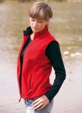 XL-Dámská fleesová vesta Lambeste -červená barva