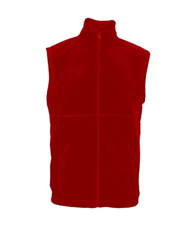 2XL-Pánská fleesová vesta Lambeste -červená barva
