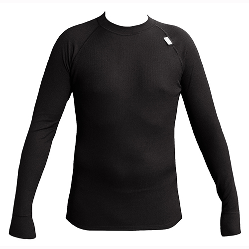 S-Pánské termo triko - dlouhý rukáv - Termo-hit - černá barva S