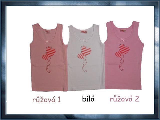 vel.98-104-Dívčí košilka - tílko WOLF - růžová barva